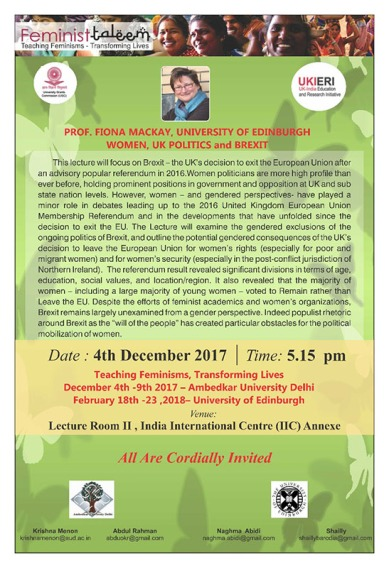 Public Lecture 2017 Fiona Mackay poster