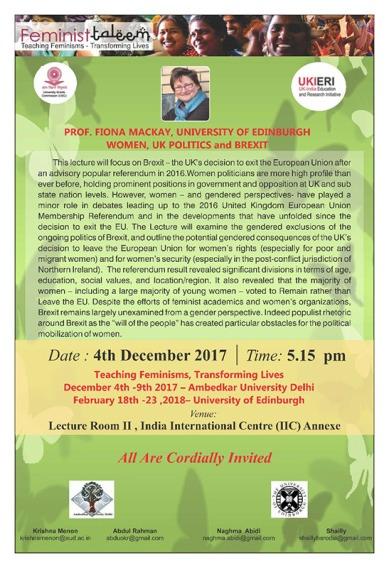 Public Lecture 2017 Fiona Mackay poster