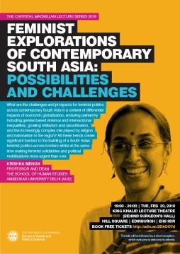 Public Lecture 2018 Krishna Menon poster
