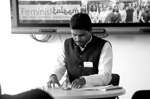 Abdul Rehman AUD Ph.D student presenting paper Edinburgh University