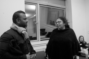 Dr. Bindu interacting with Edinburgh Research Scholar