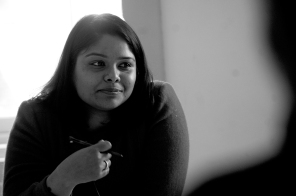 Nancy AUD Ph.D student presenting paper Edinburgh University