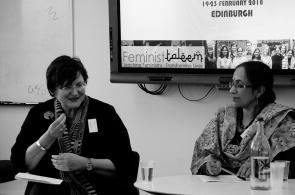 Prof. Fiona Mackay discussing paper of Prof. Krishna Menon Edinburgh University